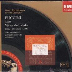 CDs de Música: TOSCA - PUCCINI - VICTOR DE SABATA - CALLAS - 2 CDS + LIBRETO. Lote 50570918