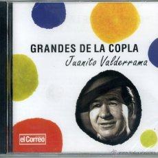 CDs de Música: GRANDES DE LA COPLA. JUANITO VALDERRAMA. EDICIÓN LIMITADA EL CORREO DE ANDALUCÍA. Lote 160295592