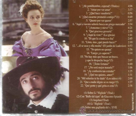 CDs de Música: CD EL PERRO DEL HORTELANO ( BANDA SONORA DE JOSE NIETO ) - Foto 2 - 50594438