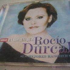 CDs de Música: CD .- HOLA EN HOMENAJE A ROCIO DURCAL.- SUS MEJORES RANCHERAS.- SONY.- AÑO 2006. Lote 50703861