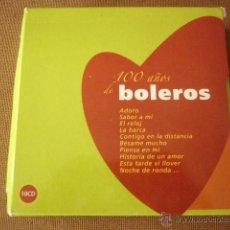 CDs de Música: 100 AÑOS DE BOLEROS. ESTUCHE DE CARTON CON 10 CD´S.. Lote 50741469