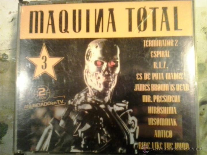 MAQUINA TOTAL 3 - DOBLE CD EN CAJA ANCHA - PRIMERA EDICION 1992 MUY DIFICIL (Música - CD's Techno)