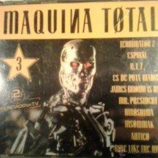 CDs de Música: MAQUINA TOTAL 3 - DOBLE CD EN CAJA ANCHA - PRIMERA EDICION 1992 MUY DIFICIL. Lote 50748343
