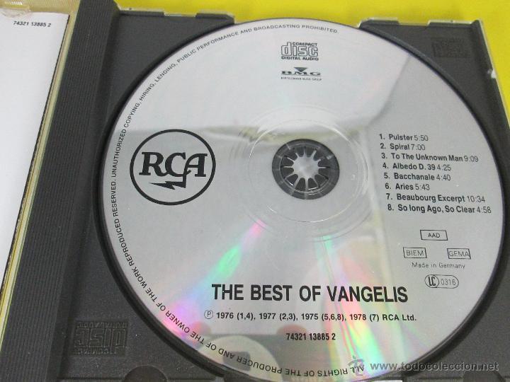CDs de Música: AºCD-THE BEST OF VANGELIS-RCA/BMG-RECOPILACIÓN 1975/6/7/8-6TEMAS-RCA/BMG-PERFECTO-VER FOTOS. - Foto 3 - 50751173