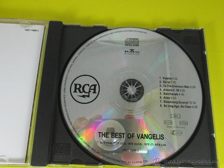 CDs de Música: AºCD-THE BEST OF VANGELIS-RCA/BMG-RECOPILACIÓN 1975/6/7/8-6TEMAS-RCA/BMG-PERFECTO-VER FOTOS. - Foto 5 - 50751173