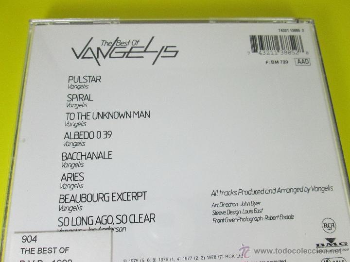 CDs de Música: AºCD-THE BEST OF VANGELIS-RCA/BMG-RECOPILACIÓN 1975/6/7/8-6TEMAS-RCA/BMG-PERFECTO-VER FOTOS. - Foto 6 - 50751173