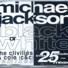 CDs de Música: MICHAEL JACKSON / BLACK OR WHITE (5 VERSIONES) CD SINGLE CAJA 1991). Lote 50824498