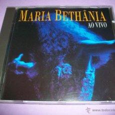 CDs de Música: MARIA BETHANIA - AO VIVO - CD - 1995 - BRAZIL EDIT - 25 TRACKS. Lote 50826277