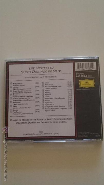 CDs de Música: CD THE MYSTERY OF SANTO DOMINGO DE LOS SILOS - GREGORIAN CHANT FROM SPAIN - Foto 2 - 50912213