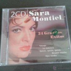CDs de Música: 2 CD NUEVOS PRECINTADOS SARA MONTIEL 24 GRANDES ÉXITOS TATUAJE LA VIOLETERA OJOS VERDES BÉSAME MUCHO. Lote 76295995