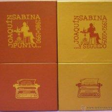 CDs de Música: JOAQUÍN SABINA - PUNTO... - Y SEGUIDO - 2 CAJAS, 18 CDS + DVDS - DESCATALOGADAS!. Lote 111039876