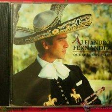 CDs de Música: ALEJANDRO FERNANDEZ.QUE SEAS MUY FELIZ. Lote 51209186