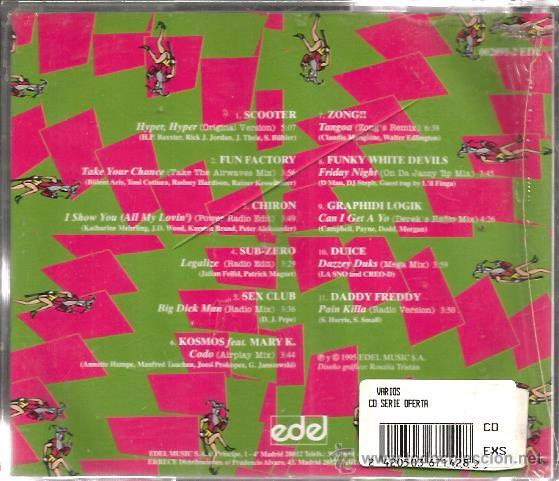 CDs de Música: CD EDEL TRANCE NATION ( DANCE TRANCE MUSIC) SCOOTER, SEX CLUB, FUN FACTORY, ZONG, CHIRON, SUB-ZERO - Foto 2 - 51231269
