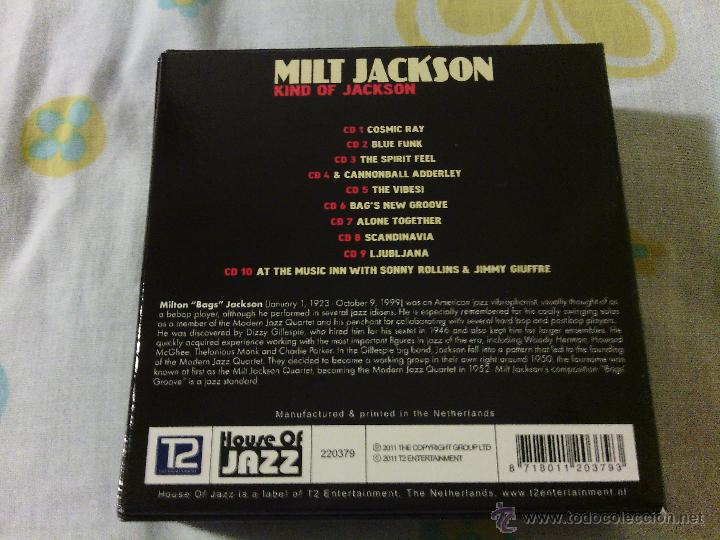 CDs de Música: BOX 10CDS MILT JACKSON - Kind Of Jackson / House Of Jazz Stereo / Very rare!!!!!!!!!!!!!!!!!!!! - Foto 3 - 51253196