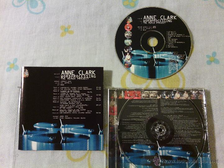 CD ANNE CLARK - WORDPROCESSING / THE REMIX PROJECT / GOTHIC ROCK SINIESTRO ELECTRONIC / 1997 (Música - CD's Rock)