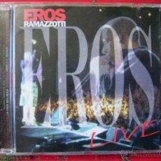 CDs de Música: EROS RAMAZZOTTI.LIVE...PEDIDO MINIMO 5€. Lote 51344562