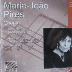 CDs de Música: MARIA-JOÁO PIRES. CHOPIN. CONCIERTOS PARA PIANO 1 Y 2. CD. ERATO 5046639732. 2003. Lote 51410512