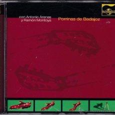 CDs de Música: PORRINA DE BADAJOZ CON ANTONIO ARENAS Y RAMÓN MONTOYA - GRABACIONES DE 1969. Lote 51481454