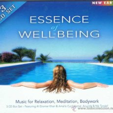 CDs de Música: ESSENCE OF WELL-BEING. MUSIC FOR RELAXATION, MEDITATION, BODYWORK (CAJA 3 CDS). Lote 51500918