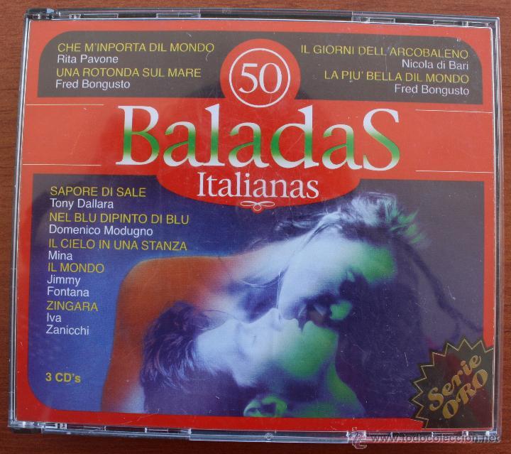 50 BALADAS ITALIANAS: 3 CD´S – COMPLETO – RECOPILACION MEJORES CANCIONES ROMANTICAS Y MELODICAS (Música - CD's Melódica )