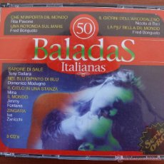 CDs de Música: 50 BALADAS ITALIANAS: 3 CD´S – COMPLETO – RECOPILACION MEJORES CANCIONES ROMANTICAS Y MELODICAS. Lote 51553075