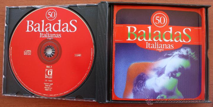 CDs de Música: 50 BALADAS ITALIANAS: 3 CD´S – COMPLETO – RECOPILACION MEJORES CANCIONES ROMANTICAS Y MELODICAS - Foto 2 - 51553075