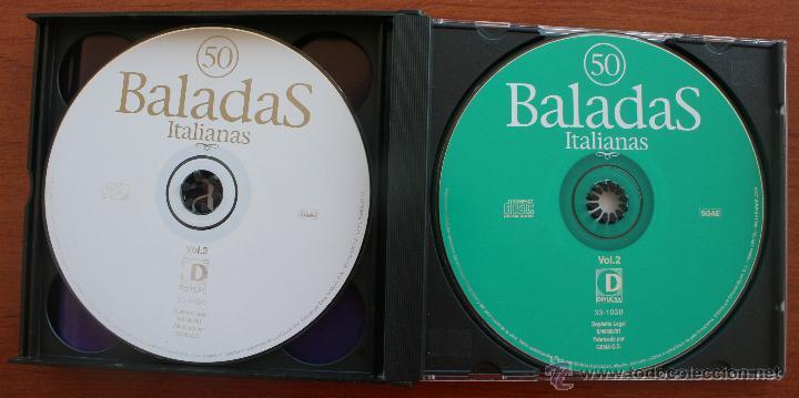 CDs de Música: 50 BALADAS ITALIANAS: 3 CD´S – COMPLETO – RECOPILACION MEJORES CANCIONES ROMANTICAS Y MELODICAS - Foto 3 - 51553075