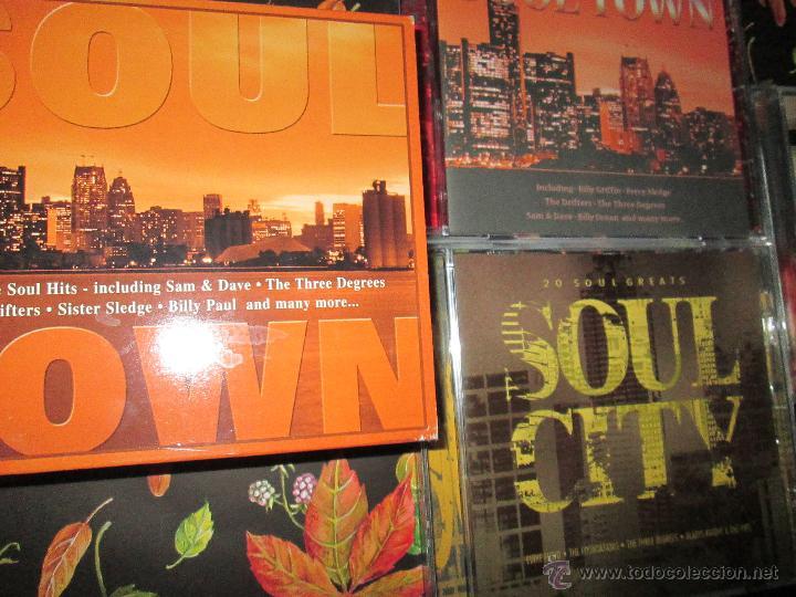 CDs de Música: LOTE 3 CDS-SOUL TOWN-60 TEMAS-TIME MUSIC-1998-NUEVO-VER FOTOS. - Foto 7 - 51561357