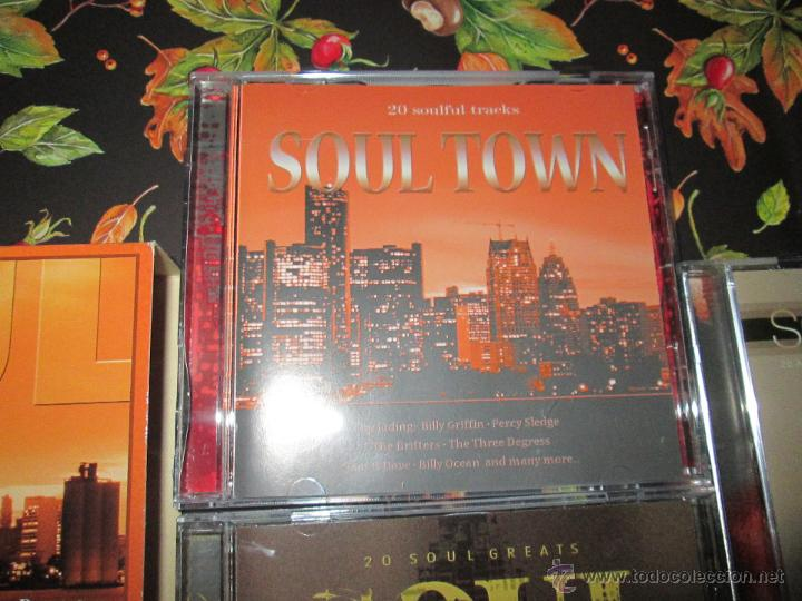CDs de Música: LOTE 3 CDS-SOUL TOWN-60 TEMAS-TIME MUSIC-1998-NUEVO-VER FOTOS. - Foto 10 - 51561357