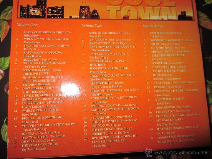CDs de Música: LOTE 3 CDS-SOUL TOWN-60 TEMAS-TIME MUSIC-1998-NUEVO-VER FOTOS. - Foto 11 - 51561357