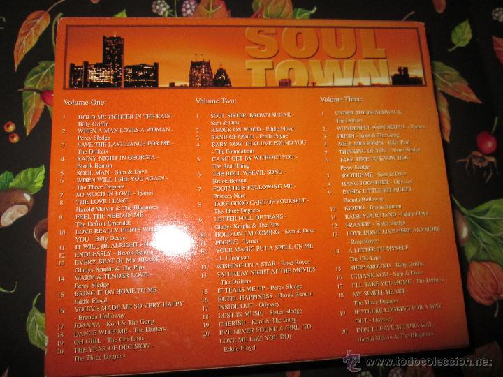 CDs de Música: LOTE 3 CDS-SOUL TOWN-60 TEMAS-TIME MUSIC-1998-NUEVO-VER FOTOS. - Foto 12 - 51561357