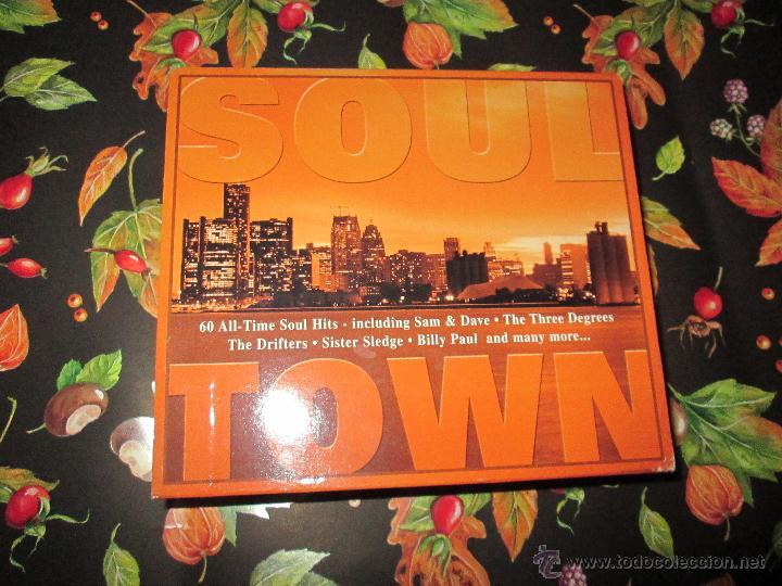 CDs de Música: LOTE 3 CDS-SOUL TOWN-60 TEMAS-TIME MUSIC-1998-NUEVO-VER FOTOS. - Foto 13 - 51561357