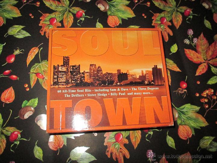 CDs de Música: LOTE 3 CDS-SOUL TOWN-60 TEMAS-TIME MUSIC-1998-NUEVO-VER FOTOS. - Foto 14 - 51561357