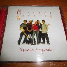 CDs de Música: MIRANDA WARNING ESCENA SEGUNDA CD ALBUM DEL AÑO 2002 CONTIENE 12 TEMAS. Lote 155900341