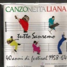 CDs de Música: CD CANZONE ITALIANA TUTTO SAN REMO ( DOMENICO MODUGNO, TONY DALLARA, PAUL ANKA, MILVA, BOBBY SOLO . Lote 51672812