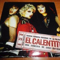 CDs de Música: EL CALENTITO BANDA SONORA CD ALBUM PROMO CARTON LAS SIUX AVIADRO DRO ALMODOVAR & MCNAMARA LOS NIKIS. Lote 103875767