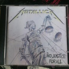 CDs de Música: METALLICA - ...AND JUSTICE FOR ALL - CD ALBUM - VERTIGO - 1988. Lote 51697231