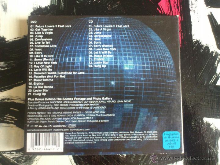 CDs de Música: MADONNA - CONFESSIONS TOUR - CD + DVD EDITION - WARNER - 2007 - Foto 2 - 51699813