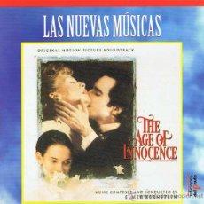 CDs de Música: CD LAS NUEVAS MÚSICAS. THE AGE OF INNOCENCE - ELMER BERNSTEIN (BSO). Lote 51928343