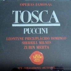 CDs de Música: TOSCA. NEW PHILHARMONIA ORCHESTRA ZUBIN MEHTA. PLACIDO DOMINGO. Lote 51940276