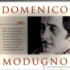 CDs de Música: CAJA 2 CD´S DOMENICO MODUGNO ( VOLARE, PIOVE CIAO CIAO BAMBINA, DIO COME TI AMO, LIBERO, ETC ). Lote 51966517