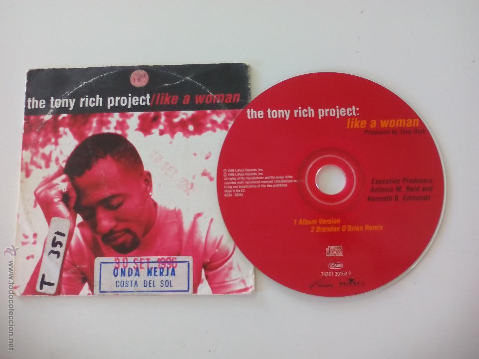 The tony rich project like a woman - Brendan O'Brien Remix  CD single   Cartón