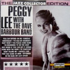 CDs de Música: PEGGY LEE WITH THE DAVE BARBOUR BAND. Lote 52031842