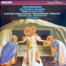 CDs de Música: BACH. MATTHÄUS-PASSION. PETER SCHREIER. Lote 52127023