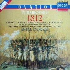 CDs de Música: TCHAIKOVSKY 1812 OVERTURE, CAPRICCIO ITALIEN, ROMEO AND JULIET, MARCHE SLAVE. DIR ANTAL DORATI. Lote 52135695