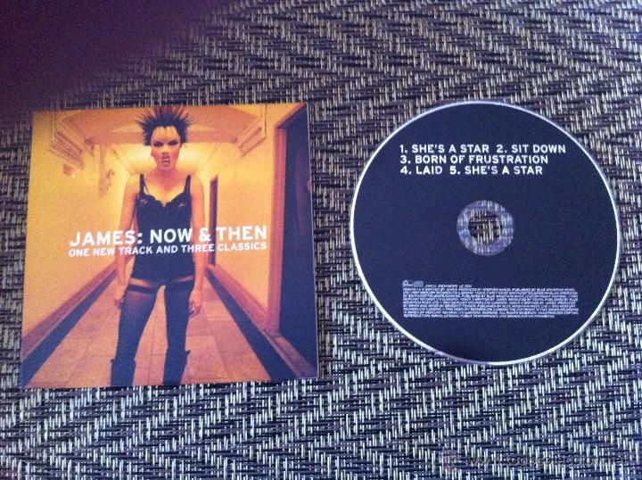 CD SINGLE - JAMES: NOW & THEN - SHE'S A STAR / SIT DOWN / BORN OF  FRUSTRATION / LAID