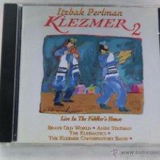 CDs de Música: ITZHAK PERLMAN - KLEZMER 2 - LIVE IN THE FIDDLER´S HOUSE - ISRAEL MUSIC - CD RARO DE ENCONTRAR -. Lote 52342297