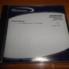CDs de Música: ALEJANDRO SANZ A LA PRIMERA PERSONA CD TV SINGLE PROMOCIONAL 2006 DURACION 4:46 MUY RARO PROMO USA. Lote 52350997