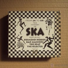 CDs de Música: THE HISTORY OF SKA, FROM JA TO UK, DESMOND DEKKER, BAD MANNERS, THE BEAT, THE SELECTER, DOBLE CD. Lote 52382679