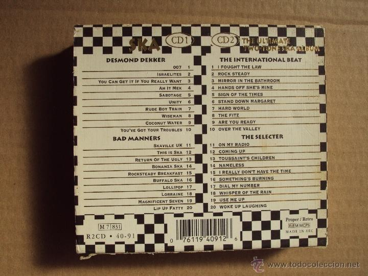 CDs de Música: THE HISTORY OF SKA, FROM JA TO UK, DESMOND DEKKER, BAD MANNERS, THE BEAT, THE SELECTER, DOBLE CD - Foto 2 - 52382679